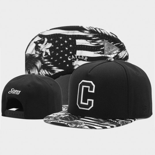 Cayler And Sons USA Snapback | Black-White