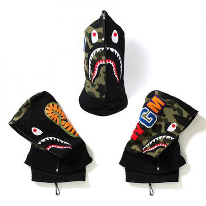 BAPE Shark Face Mask Hoodie