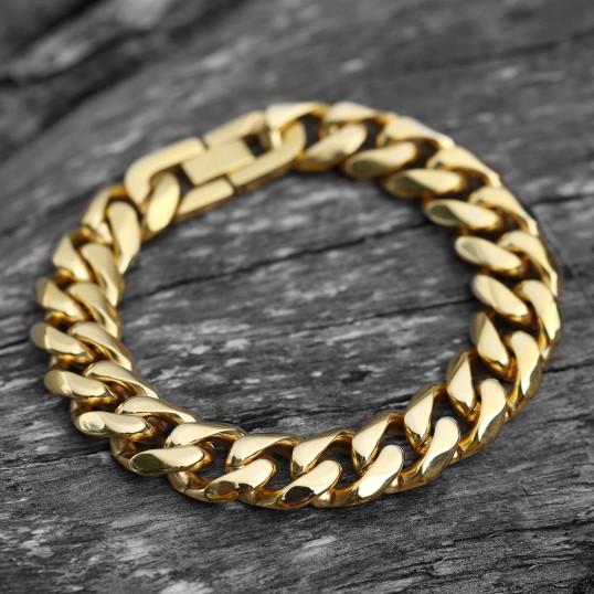 Cuban Bracelet | Gold 15mm x 22cm | Titanium Steel