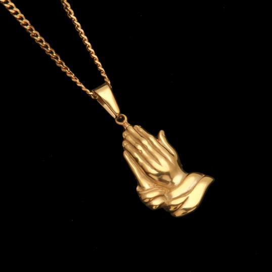 Praying Hands Chain | Gold | Titanium Steel