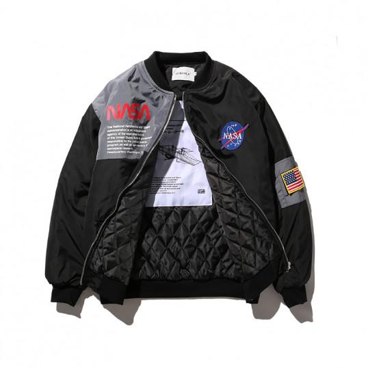 NASA Bomber Jacket | Black