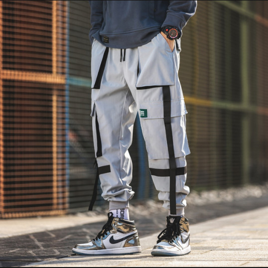 Cargo Jogger Pants | Grey-Black