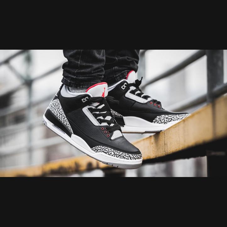 "Air Jordan Retro 3  ""Black Cement"""