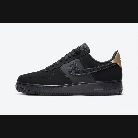 Nike Air Force 1 Suede | Black-Gold