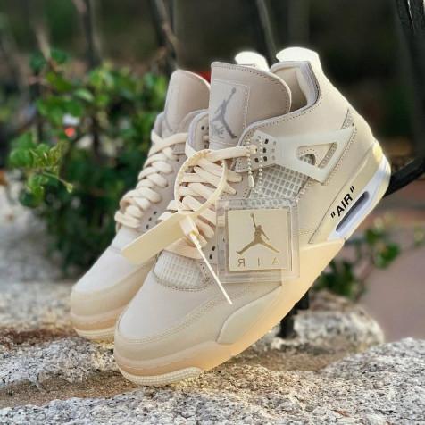 "Nike Air Jordan Retro 4 x Off-White ""Sail"""