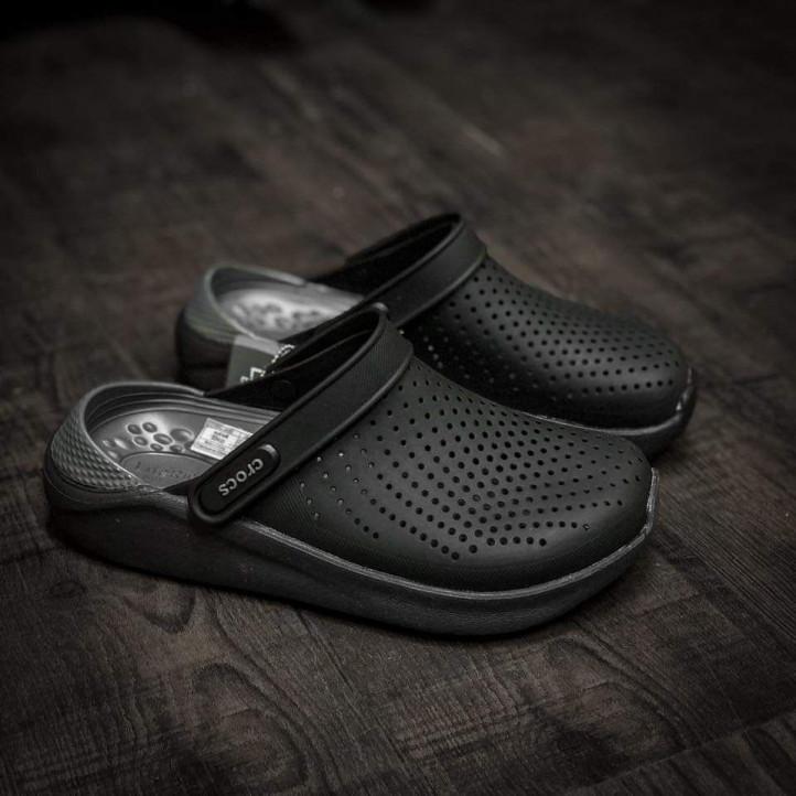 Crocs LiteRide | Black & Slate Grey