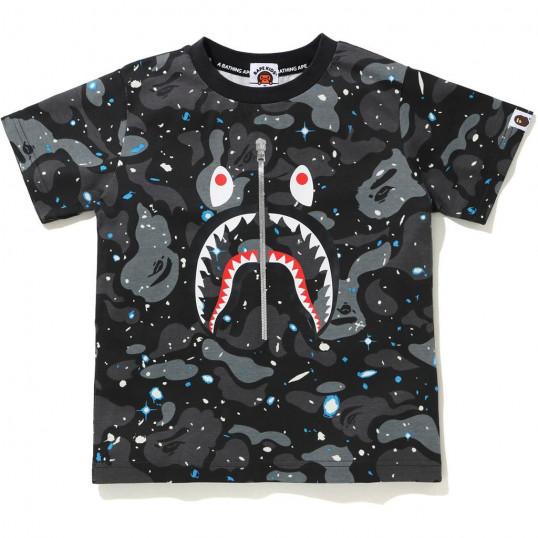 Футболка Bape Shark Space Camo   Черная