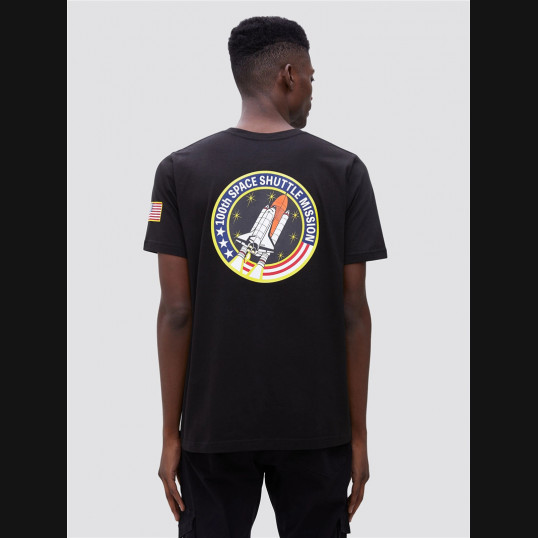 Футболка NASA Alpha Industries   Черная