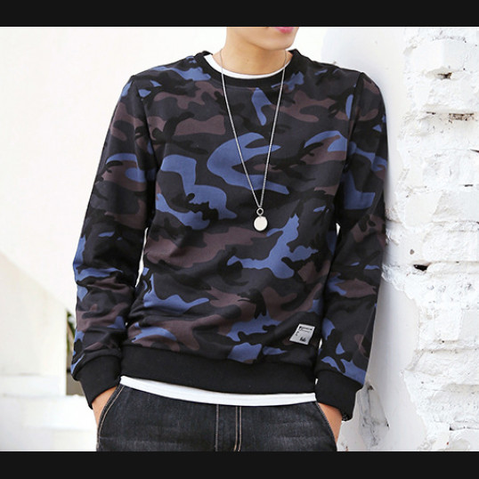 Blue-Camo Sweatshirt