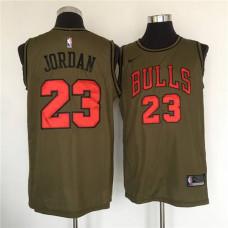 Michael Jordan Jersey | Chicago Bulls Army Green