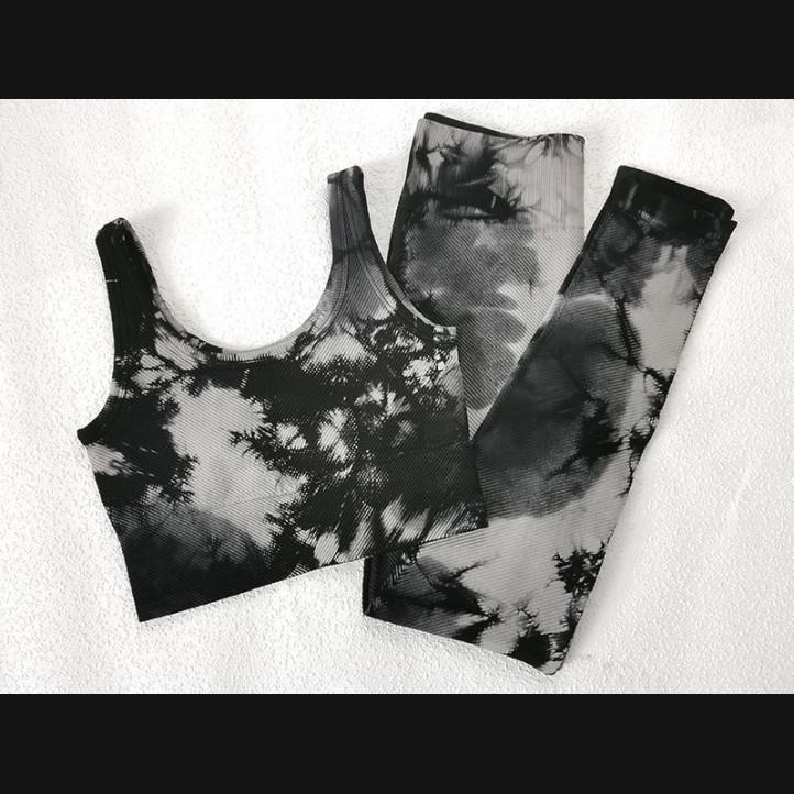 Костюм Fitness Tie Dye   Черный